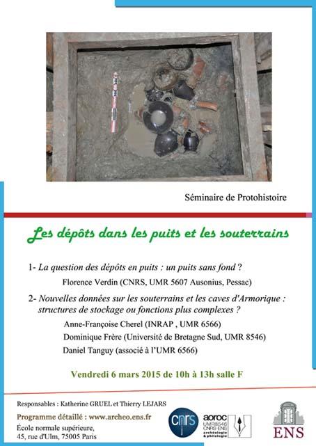 Affiche seminaire Dépôts dans les puits (06-03-15)